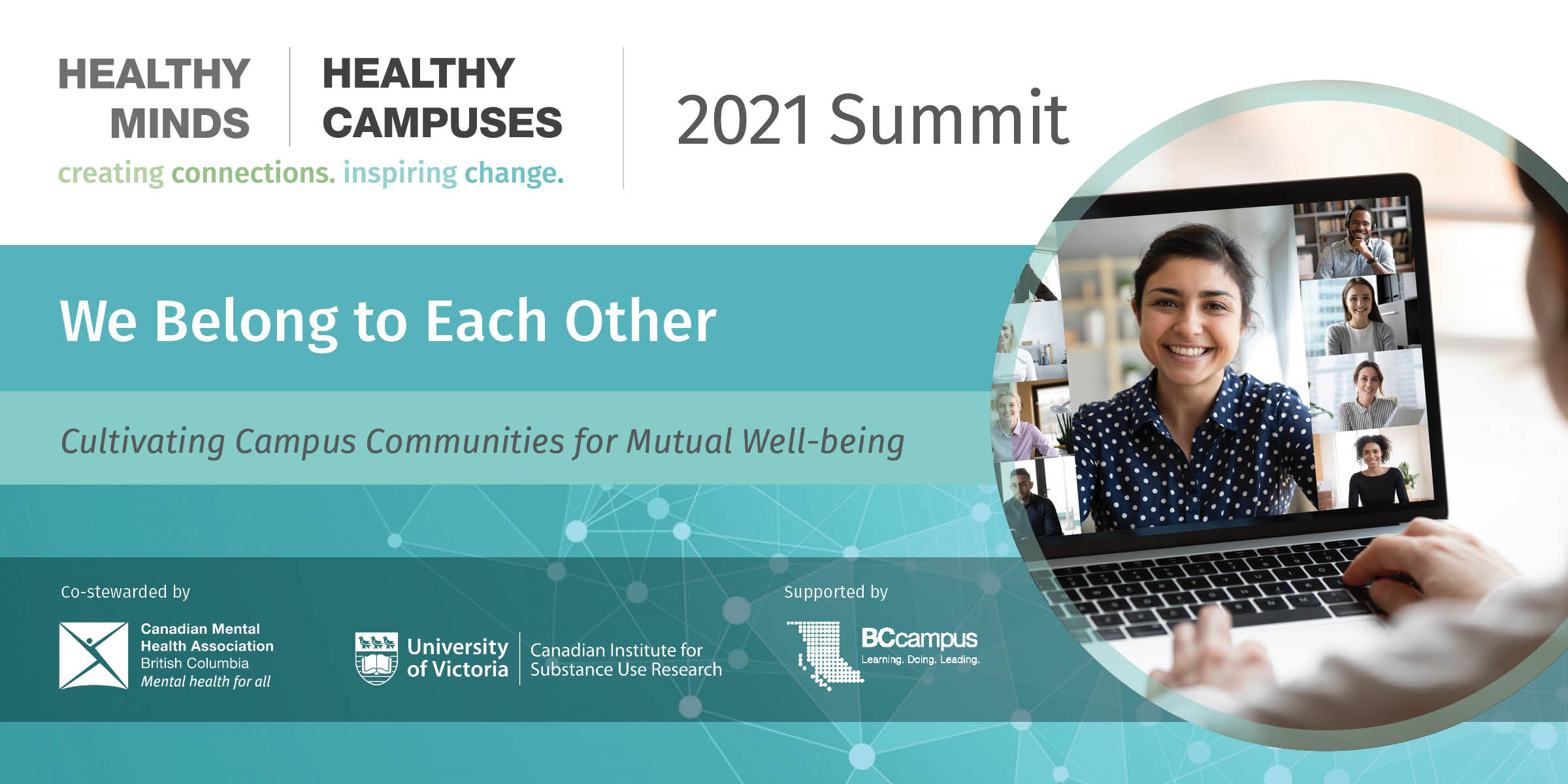 Healthy Minds Healthy Campuses 2021 Summit Banner
